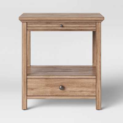Shelburne Wood Nightstand with Drawer/Slide Out Shelf Brown - Threshold - Target