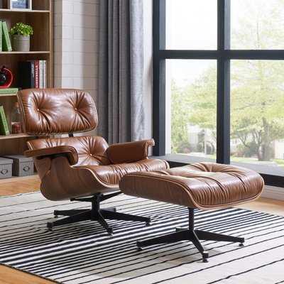 Hamilton Swivel Lounge Chair and Ottoman - AllModern