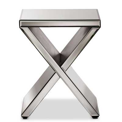 Morris Glam Silver Metallic Finished End Table - Home Depot