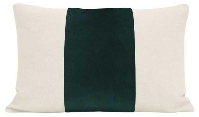 "The Little Lumbar :: PANEL Classic Velvet // Emerald - 12"" X 18"" - Little Design Company"