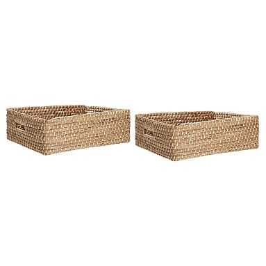 Naturalist Woven Storage Bins, Underbed, Set Of 2, Natural Woven - Pottery Barn Teen