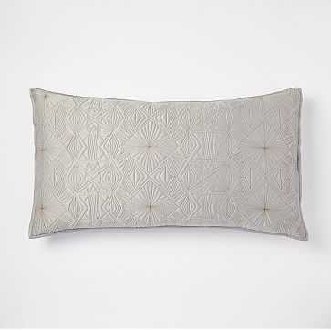 Diamond Burst King Sham, Feather Gray - West Elm