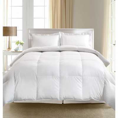 European White Goose Down Twin Comforter, Whites - Home Depot