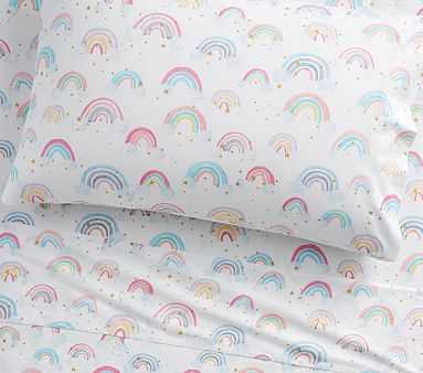 Organic Rainbow Cloud Sheet Set, Full, White - Pottery Barn Kids