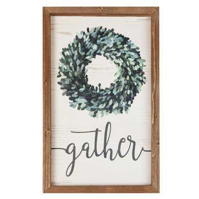 'Gather' Framed Textual Art on Wood - Wayfair