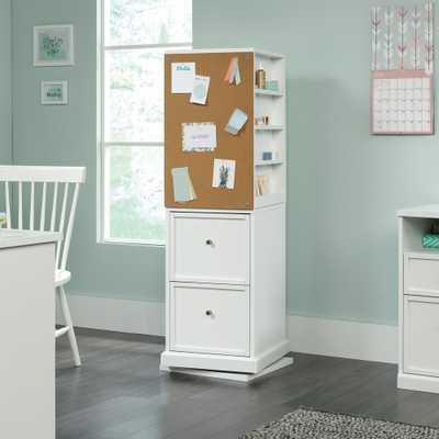 Sauder HomeVisions White Craft Storage Tower - Home Depot