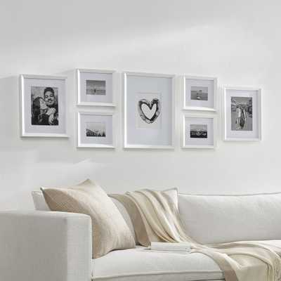 Icon White Frame Gallery, Set of 7 - Crate and Barrel
