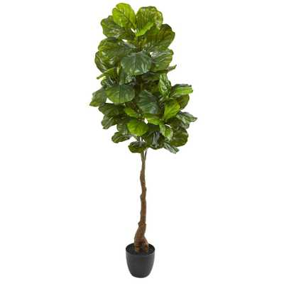Nearly Natural 64 in. Fiddle Leaf Artificial Tree (Real Touch) - Home Depot