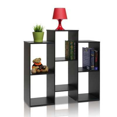 Parsons 6-Shelf Black Bookcase with open shelves - Home Depot