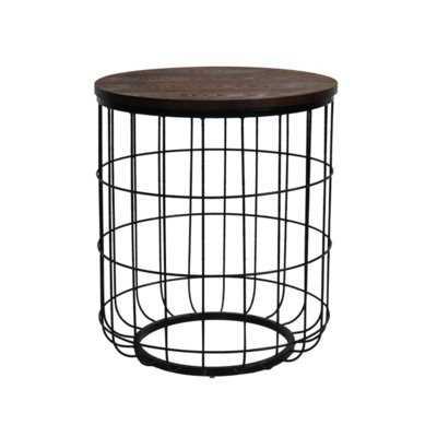 Helsel Industrial Wire End Table - Wayfair