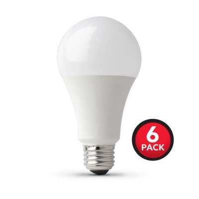 100-Watt Equivalent A21 LED Light Bulb Bright White (6-Pack) - Home Depot