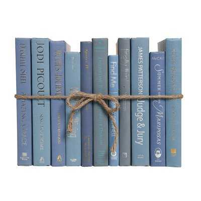 Authentic Decorative Books - By Color Modern Marlin ColorPak (1 Linear Foot, 10-12 Books) - Wayfair