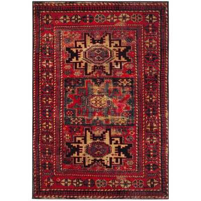 Vintage Hamadan Red/Multi 7 ft. x 9 ft. Area Rug - Home Depot