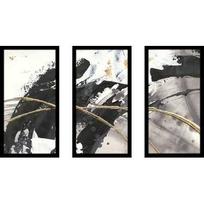 'Gilded Arcs II' Acrylic Painting Print Multi-Piece Image on Glass - Wayfair