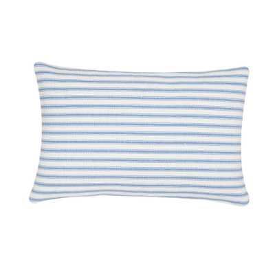 Ticking Stripe Cornflower Standard Pillow, Cornflower Blue - Home Depot