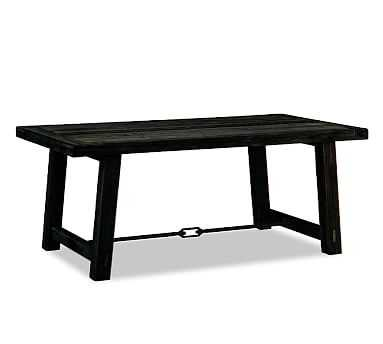 "Benchwright Dining Table, Blackened Oak, 74""L x 38""W - Pottery Barn"
