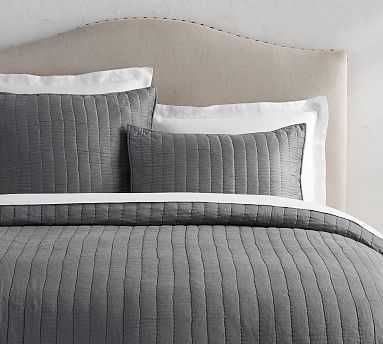 Cotton Silk Channel Quilt, King/Cal. King, Gray Mist - Pottery Barn