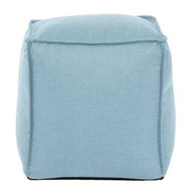 Square Pouf Sterling Breeze Blue Ottoman - Home Depot