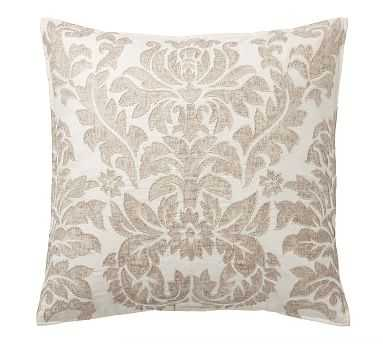 """Francesca Embroidered Pillow Cover, 24"""", Neutral Multi - Pottery Barn"""