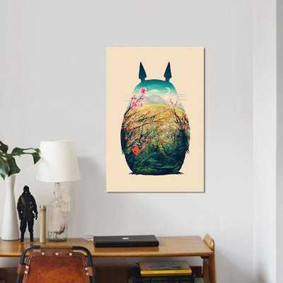 'Tonari no Totoro' Graphic Art Print on Canvas - Wayfair