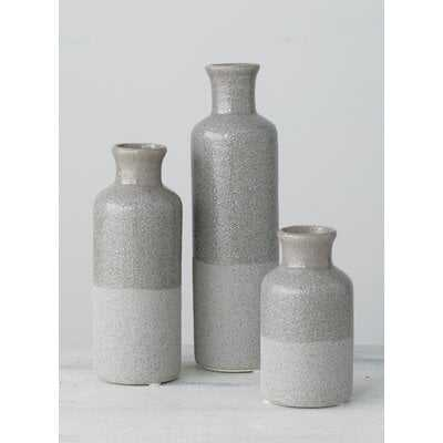 Ridgeview Bottles 3 Piece Table Vase Set - Wayfair
