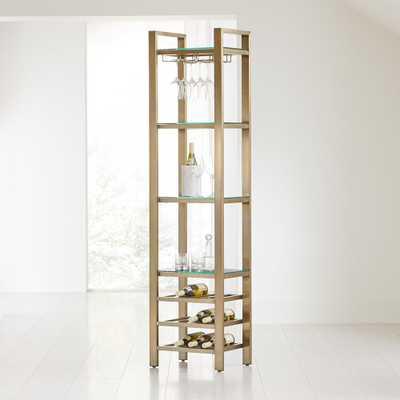 Pilsen Brass Modular Wine Tower - Crate and Barrel