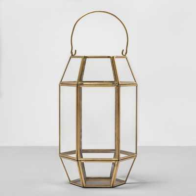 13 Hexagon Outdoor Lantern Gold Frame - Opalhouse - Target