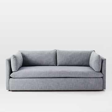 """Shelter Sofa, Yarn Dyed Linen Weave, Shelter Blue- 84"""" - West Elm"""