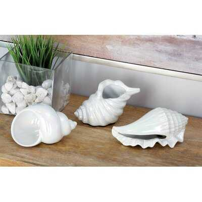 Shoaf Ceramic Shell 3 Piece Figurine Set - Wayfair