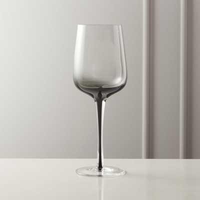 Reina White Smoke Wine Glass - CB2