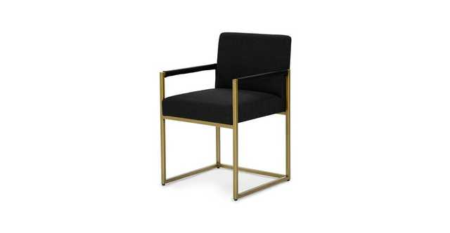 Oscuro Pure Black Dining Armchair - Article