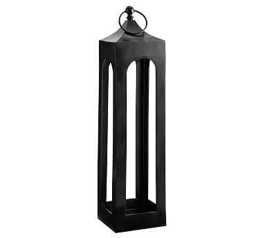 "Caleb Handcrafted Metal Lantern, Black, Large - 36"" - Pottery Barn"