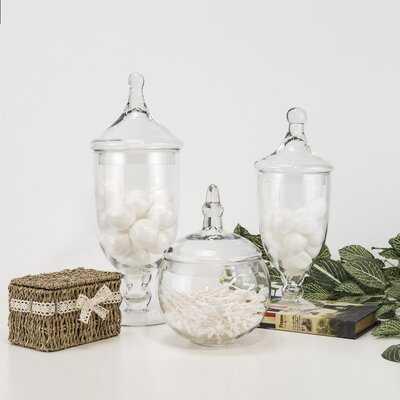Candy Buffet 3 Piece Apothecary Jar Set - Wayfair