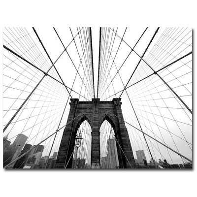 'NYC Brooklyn Bridge' Photo Graphic Print on Canvas - Wayfair