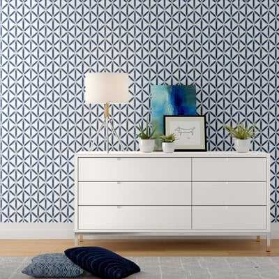 """Nathaly 18' L x 20.5"""" W Texture Peel and Stick Wallpaper Roll - Birch Lane"""