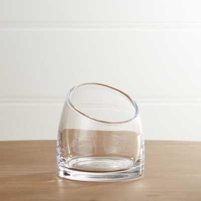 Slant Small Glass Vessel - Crate and Barrel