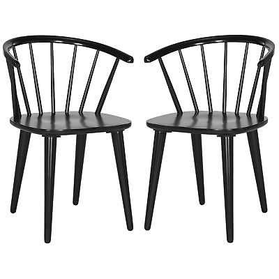 Safavieh Country Classic Dining Blanchard Black Dining Chairs (Set of 2) - eBay