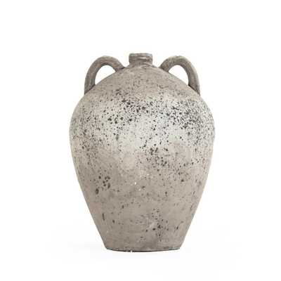 Zentique Terracotta Grey 2 Handle Decorative Vase - Home Depot