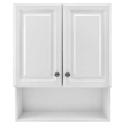 Glacier Bay 23-1/8 in. W x 27-7/8 in. H Framed Surface-Mount Bathroom Medicine Cabinet in White - Home Depot