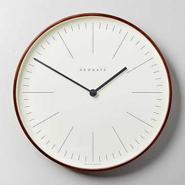 Mr. Clarke Clock, Large, Wood - West Elm