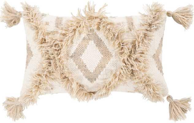 "Hailee Pillow, 10""x 18"", Khaki - Roam Common"