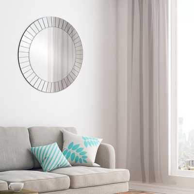 Pinnacle Frameless Beveled Round Silver Decorative Mirror - Home Depot