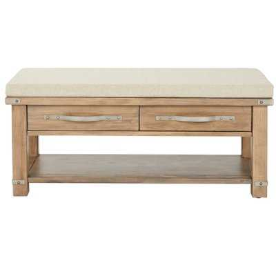 Linder Upholstered Storage Bench - Wayfair