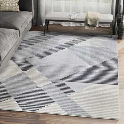 Sumter Gray Geometric Area Rug - Wayfair