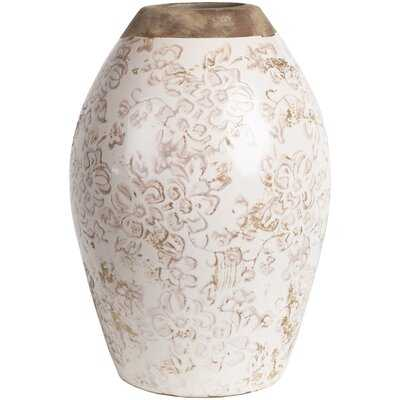 Bartsch Transitional Ivory, Brown Vase - Wayfair