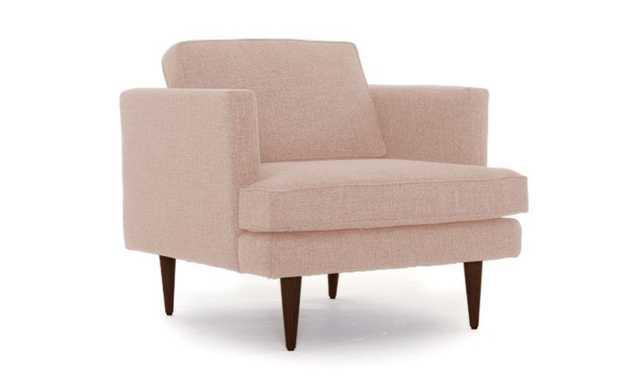 Pink Preston Mid Century Modern Chair - Key Largo Blush - Mocha - Joybird