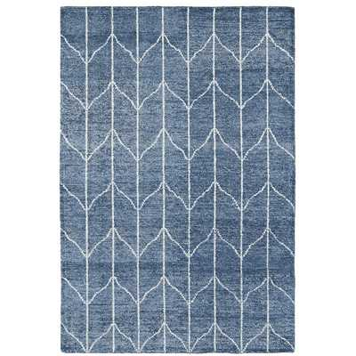 Hand Woven Denim Blue/Ivory Area Rug - Wayfair
