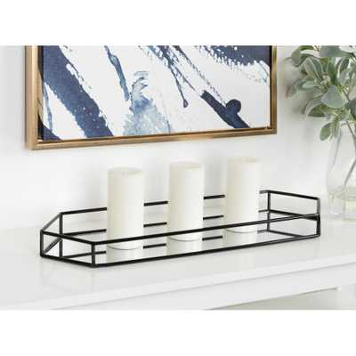 Kate and Laurel Felicia Black Decorative Tray - Home Depot