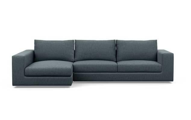 Walters Left Sectional with Blue Rain Fabric and extended chaise - Interior Define