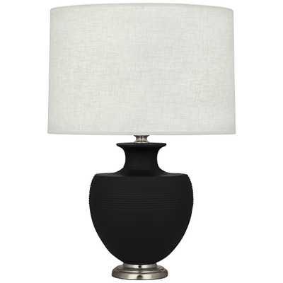 Michael Berman Atlas Nickel and Dark Coal Ceramic Table Lamp - Style # 19A90 - Lamps Plus